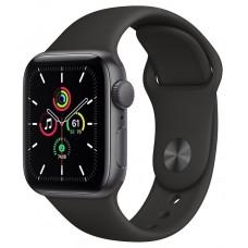 Часы Apple Watch SE GPS 40мм Aluminum Case with Sport Band, серый космос/черный